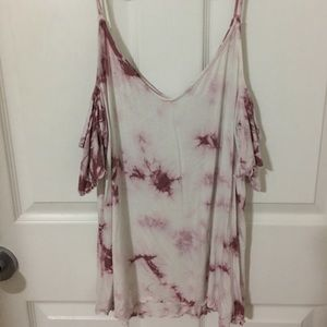 AMERICAN EAGLE OFF THE SHOULDER WITH STRAPS SIZE L